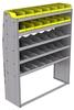 "25-5872-5 Profiled back bin separator combo Shelf unit 58.5""Wide x 18.5""Deep x 72""High with 5 shelves"