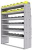 "25-5872-6 Profiled back bin separator combo Shelf unit 58.5""Wide x 18.5""Deep x 72""High with 6 shelves"