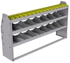 "25-6336-3 Profiled back bin separator combo Shelf unit 67""Wide x 13.5""Deep x 36""High with 3 shelves"