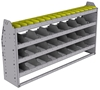 "25-6336-4 Profiled back bin separator combo Shelf unit 67""Wide x 13.5""Deep x 36""High with 4 shelves"
