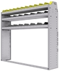 "25-6358-3 Profiled back bin separator combo Shelf unit 67""Wide x 13.5""Deep x 58""High with 3 shelves"