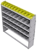 "25-6363-5 Profiled back bin separator combo Shelf unit 67""Wide x 13.5""Deep x 63""High with 5 shelves"