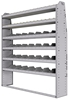 "25-6372-6 Profiled back bin separator combo Shelf unit 67""Wide x 13.5""Deep x 72""High with 6 shelves"