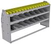 "25-6536-3 Profiled back bin separator combo Shelf unit 67""Wide x 15.5""Deep x 36""High with 3 shelves"