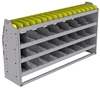 "25-6536-4 Profiled back bin separator combo Shelf unit 67""Wide x 15.5""Deep x 36""High with 4 shelves"