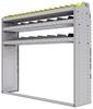 "25-6558-3 Profiled back bin separator combo Shelf unit 67""Wide x 15.5""Deep x 58""High with 3 shelves"