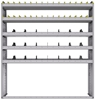 "25-6572-5 Profiled back bin separator combo Shelf unit 67""Wide x 15.5""Deep x 72""High with 5 shelves"