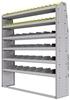 "25-6572-6 Profiled back bin separator combo Shelf unit 67""Wide x 15.5""Deep x 72""High with 6 shelves"