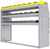 "25-6848-3 Profiled back bin separator combo Shelf unit 67""Wide x 18.5""Deep x 48""High with 3 shelves"