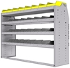 "25-6848-4 Profiled back bin separator combo Shelf unit 67""Wide x 18.5""Deep x 48""High with 4 shelves"