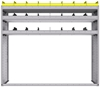 "25-6858-3 Profiled back bin separator combo Shelf unit 67""Wide x 18.5""Deep x 58""High with 3 shelves"