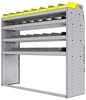 "25-6858-4 Profiled back bin separator combo Shelf unit 67""Wide x 18.5""Deep x 58""High with 4 shelves"