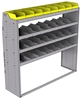 "25-6863-4 Profiled back bin separator combo Shelf unit 67""Wide x 18.5""Deep x 63""High with 4 shelves"