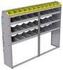 "25-7358-4 Profiled back bin separator combo Shelf unit 75""Wide x 13.5""Deep x 58""High with 4 shelves"