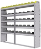 "25-7363-5 Profiled back bin separator combo Shelf unit 75""Wide x 13.5""Deep x 63""High with 5 shelves"