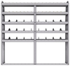 "25-7372-5 Profiled back bin separator combo Shelf unit 75""Wide x 13.5""Deep x 72""High with 5 shelves"