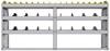 "25-7536-3 Profiled back bin separator combo Shelf unit 75""Wide x 15.5""Deep x 36""High with 3 shelves"
