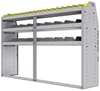 "25-7548-3 Profiled back bin separator combo Shelf unit 75""Wide x 15.5""Deep x 48""High with 3 shelves"