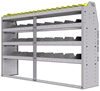 "25-7548-4 Profiled back bin separator combo Shelf unit 75""Wide x 15.5""Deep x 48""High with 4 shelves"