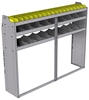 "25-7558-3 Profiled back bin separator combo Shelf unit 75""Wide x 15.5""Deep x 58""High with 3 shelves"
