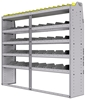 "25-7563-5 Profiled back bin separator combo Shelf unit 75""Wide x 15.5""Deep x 63""High with 5 shelves"