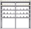 "25-7572-5 Profiled back bin separator combo Shelf unit 75""Wide x 15.5""Deep x 72""High with 5 shelves"
