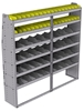 "25-7572-6 Profiled back bin separator combo Shelf unit 75""Wide x 15.5""Deep x 72""High with 6 shelves"