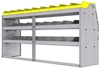 "25-7836-3 Profiled back bin separator combo Shelf unit 75""Wide x 18.5""Deep x 36""High with 3 shelves"