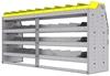 "25-7836-4 Profiled back bin separator combo Shelf unit 75""Wide x 18.5""Deep x 36""High with 4 shelves"