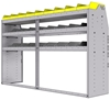 "25-7848-3 Profiled back bin separator combo Shelf unit 75""Wide x 18.5""Deep x 48""High with 3 shelves"
