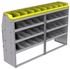 "25-7848-4 Profiled back bin separator combo Shelf unit 75""Wide x 18.5""Deep x 48""High with 4 shelves"