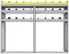 "25-7858-3 Profiled back bin separator combo Shelf unit 75""Wide x 18.5""Deep x 58""High with 3 shelves"