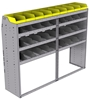 "25-7858-4 Profiled back bin separator combo Shelf unit 75""Wide x 18.5""Deep x 58""High with 4 shelves"