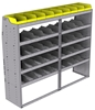 "25-7863-5 Profiled back bin separator combo Shelf unit 75""Wide x 18.5""Deep x 63""High with 5 shelves"