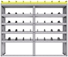 "25-7863-5 Profiled back bin separator combo Shelf unit 75""Wide x 18.5""Deep x 63""High with 5 shelves"