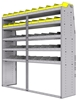 "25-7872-5 Profiled back bin separator combo Shelf unit 75""Wide x 18.5""Deep x 72""High with 5 shelves"
