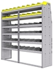 "25-7872-6 Profiled back bin separator combo Shelf unit 75""Wide x 18.5""Deep x 72""High with 6 shelves"