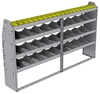 "25-8348-4 Profiled back bin separator combo Shelf unit 84""Wide x 13.5""Deep x 48""High with 4 shelves"
