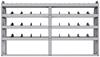 "25-8348-4 Profiled back bin separator combo Shelf unit 84""Wide x 13.5""Deep x 48""High with 4 shelves"