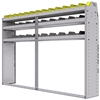 "25-8358-3 Profiled back bin separator combo Shelf unit 84""Wide x 13.5""Deep x 58""High with 3 shelves"