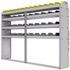 "25-8358-4 Profiled back bin separator combo Shelf unit 84""Wide x 13.5""Deep x 58""High with 4 shelves"