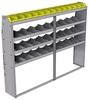 "25-8363-4 Profiled back bin separator combo Shelf unit 84""Wide x 13.5""Deep x 63""High with 4 shelves"