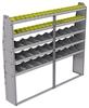 "25-8372-5 Profiled back bin separator combo Shelf unit 84""Wide x 13.5""Deep x 72""High with 5 shelves"