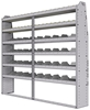 "25-8372-6 Profiled back bin separator combo Shelf unit 84""Wide x 13.5""Deep x 72""High with 6 shelves"