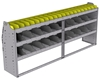 "25-8536-3 Profiled back bin separator combo Shelf unit 84""Wide x 15.5""Deep x 36""High with 3 shelves"
