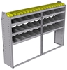 "25-8558-4 Profiled back bin separator combo Shelf unit 84""Wide x 15.5""Deep x 58""High with 4 shelves"