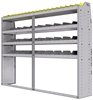 "25-8563-4 Profiled back bin separator combo Shelf unit 84""Wide x 15.5""Deep x 63""High with 4 shelves"