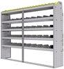 "25-8563-5 Profiled back bin separator combo Shelf unit 84""Wide x 15.5""Deep x 63""High with 5 shelves"