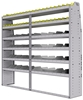 "25-8572-6 Profiled back bin separator combo Shelf unit 84""Wide x 15.5""Deep x 72""High with 6 shelves"