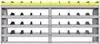 "25-8836-4 Profiled back bin separator combo Shelf unit 84""Wide x 18.5""Deep x 36""High with 4 shelves"